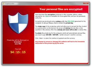 CryptoLocker Ransom Demands