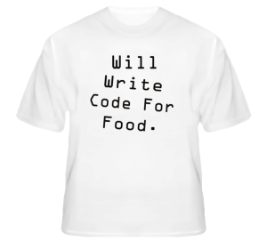 write code for food